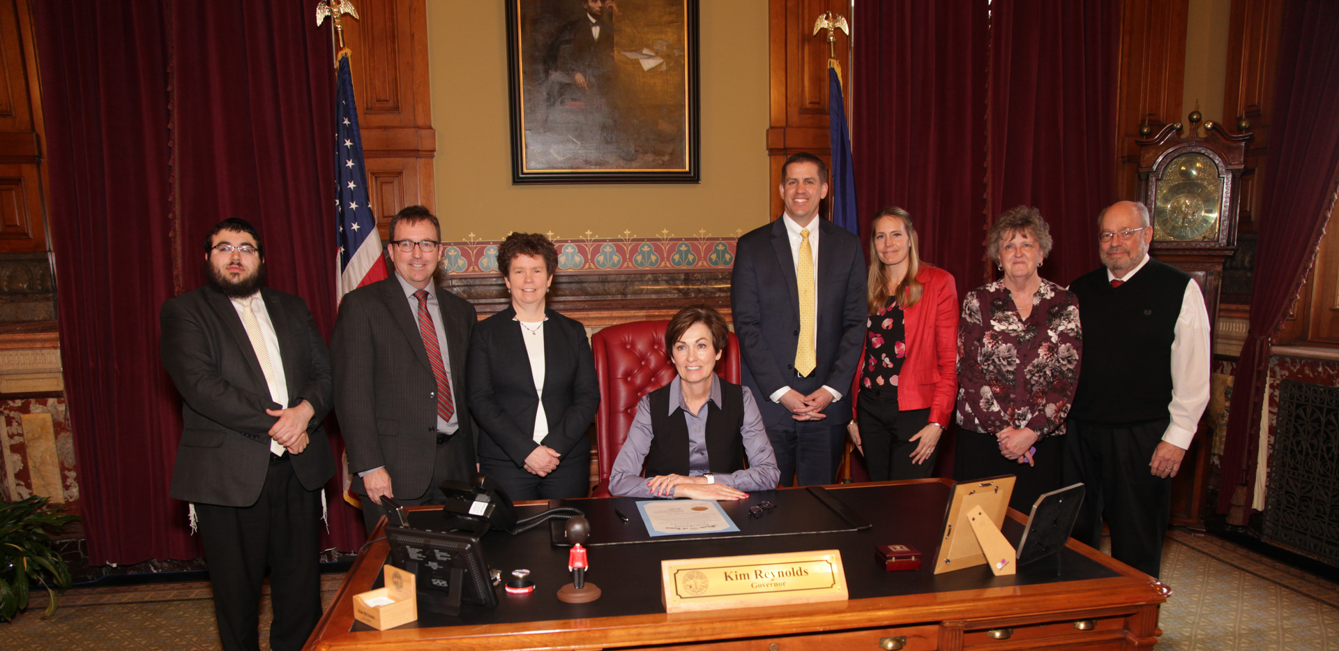 Governor Kim Reynolds signs Proclamation