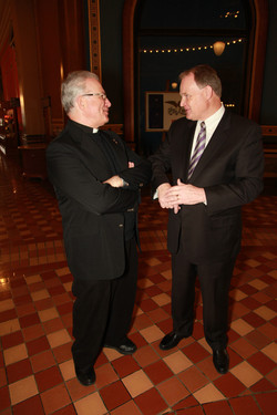 Father Jim and Gary Pence