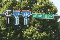 Mormon Trek Blvd sign