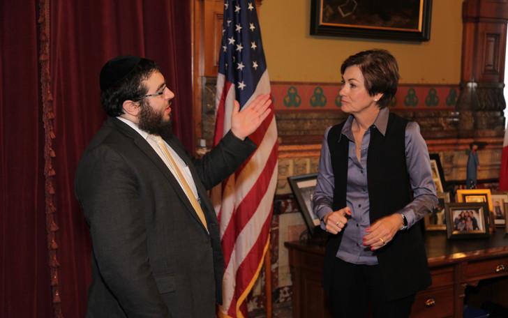 Governor Kim Reynolds and Rabbi Jacobson