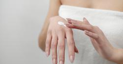 Applying Cream on Hand