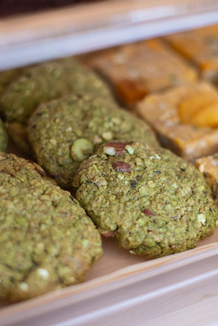 Almond Matcha Oat Cookies