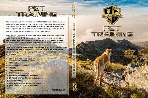 Pet Training Program DVD
