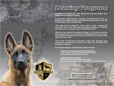 Top Tier K9 Leasing Program