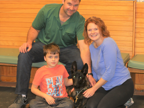 Dusty Bonds with His New Family