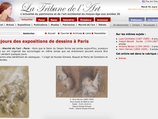 PRESSE // La Tribune de l'Art - Toujours des expositions de dessins à Paris