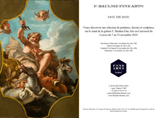 SAVE THE DATE ! FINE ARTS PARIS DU 7 AU 11 NOVEMBRE 2018