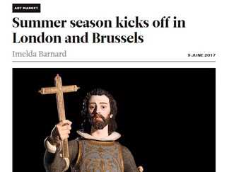 "PRESSE-PARIS TABLEAU// Apollo Magazine ""Summer season kicks off in London and Brussels"""