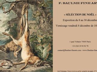 Venez faire vos cadeaux de Noël à la galerie F. Baulme Fine Arts du 8 au 30 décembre