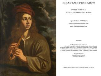 LES RENDEZ-VOUS DE DECEMBRE A LA GALERIE F. BAULME FINE ARTS : 13 DECEMBRE SOIREE MUSICALE