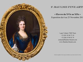 """EXPOSITION """"OEUVRES DU XVIe au XIXe SIECLE"""""""