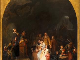 ACQUISITION d'un tableau de Girardet pour le musée du Désert d'Anduze