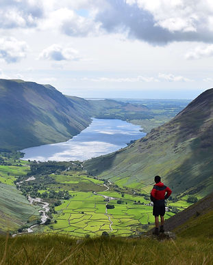 James Forrest, looking down to Wastwater, Lake District