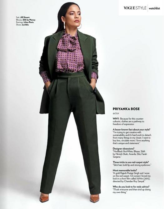 Priyanka Bose for Vogue India