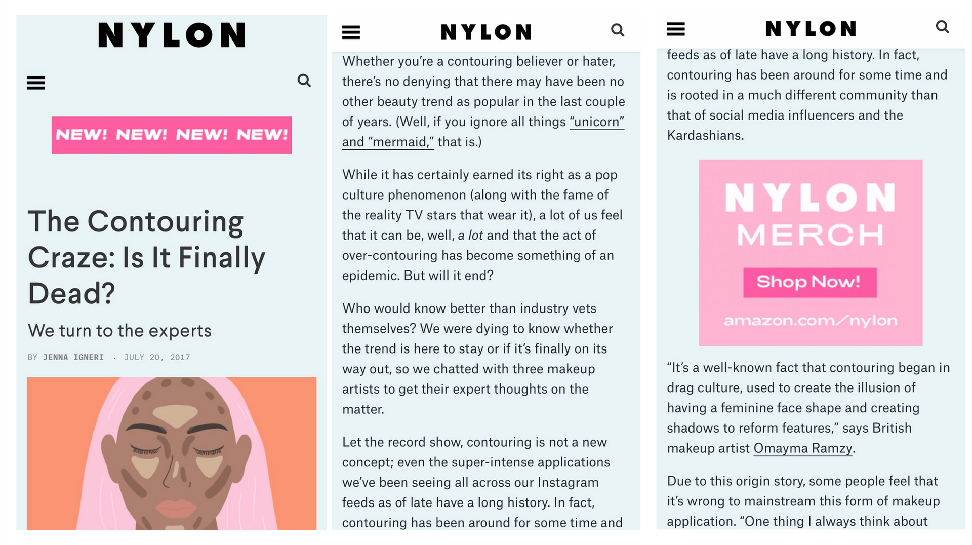 NYLON The Contouring Craze: Is it Finally Dead? Omayma Ramzy