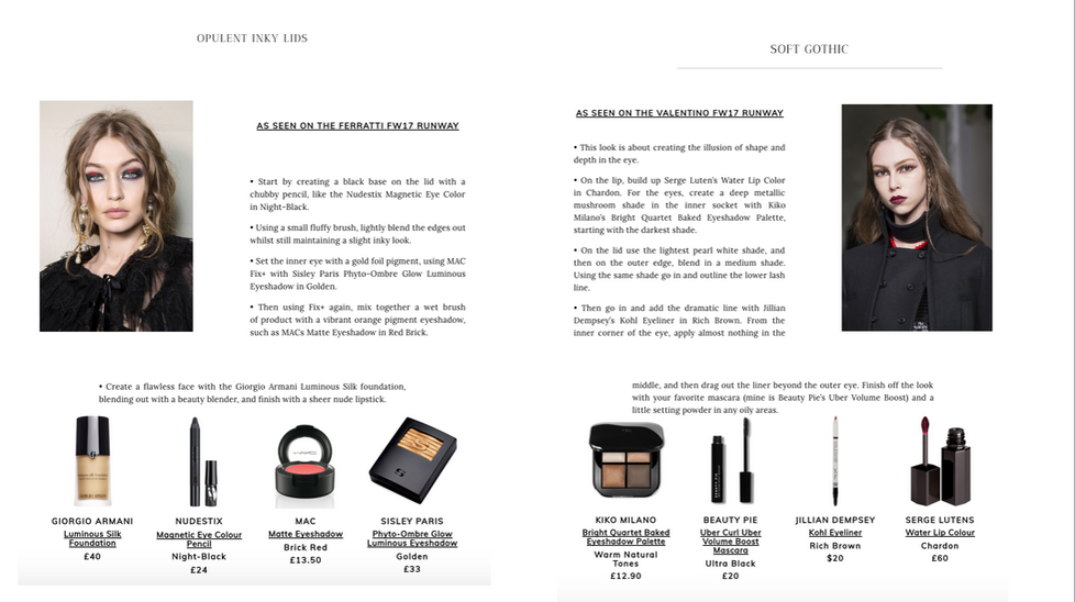 The Bod Edit Omayma Ramzy Beauty Muse Dark Looks For Fall