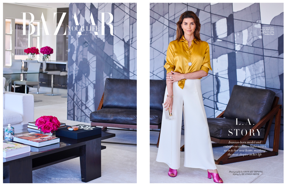 Shiva Safai for Harpers Bazaar Arabia Sept 2019