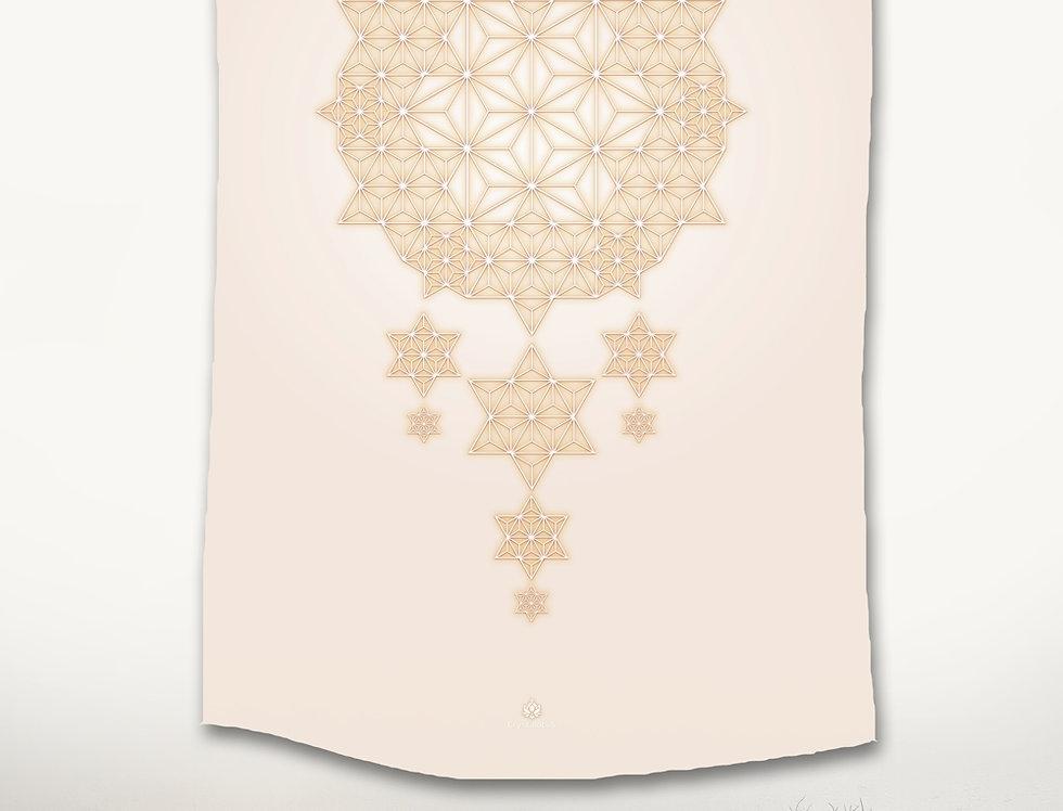 Asanoha STAR DREAMS Tapestry - Bone