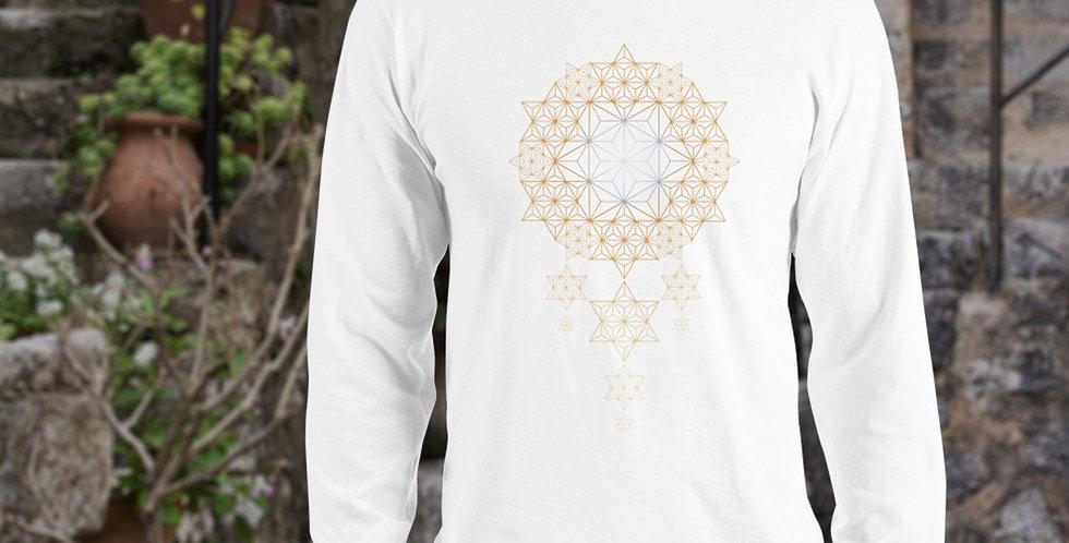 Star Dreams Asanoha Mens Cotton Long sleeve Tshirt