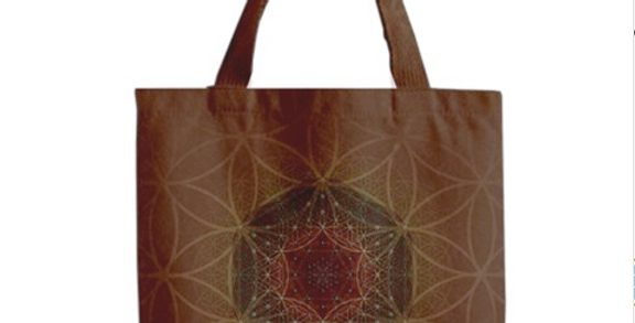 Blooming Earth Flower of Life  Canvas Tote Bag