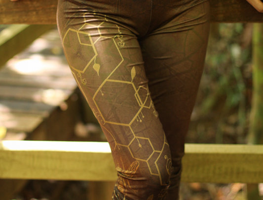 Yoga Leggings - Queen Bee