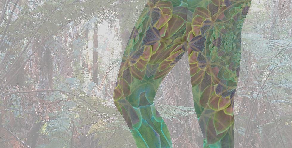 Succulence Capri Yoga Leggings