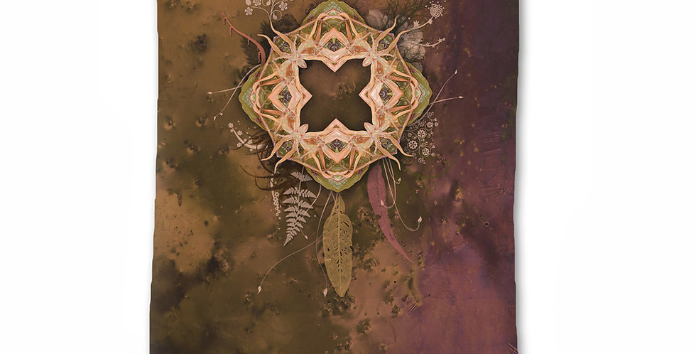 Orchid Portal Fabric Wall hanging Tapestry