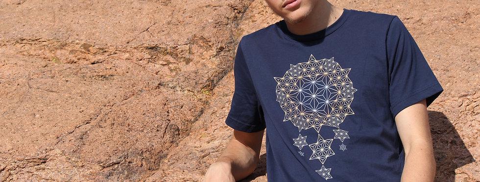 Star Dreams Asanoha Mens Cotton Tshirt