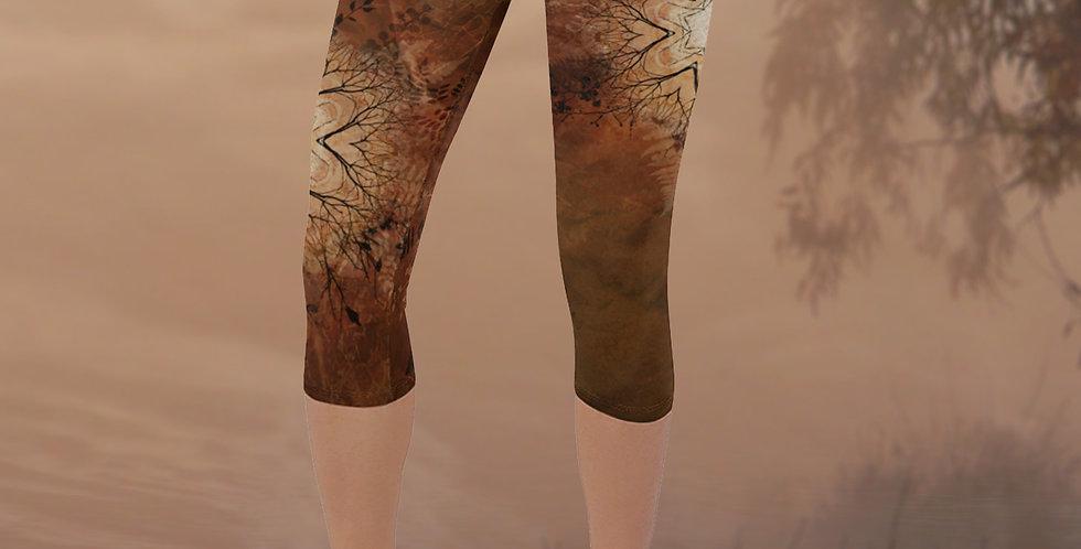 Autumn Star Capri Yoga Leggings