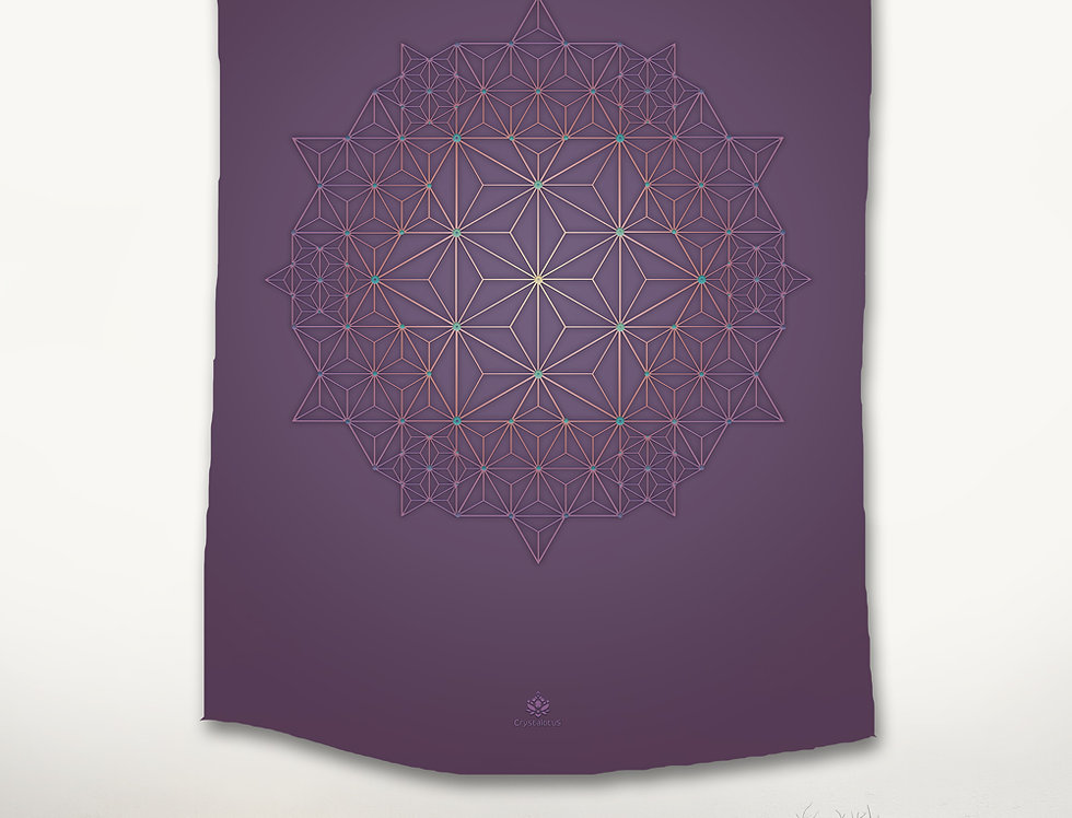 Purple Star - Asanoha wall hanging Tapestry