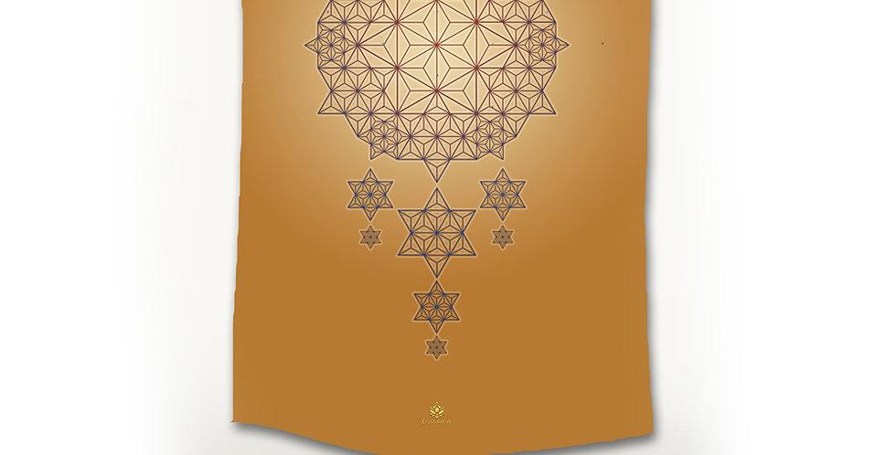 Asanoha STAR DREAMS Tapestry - Ochre