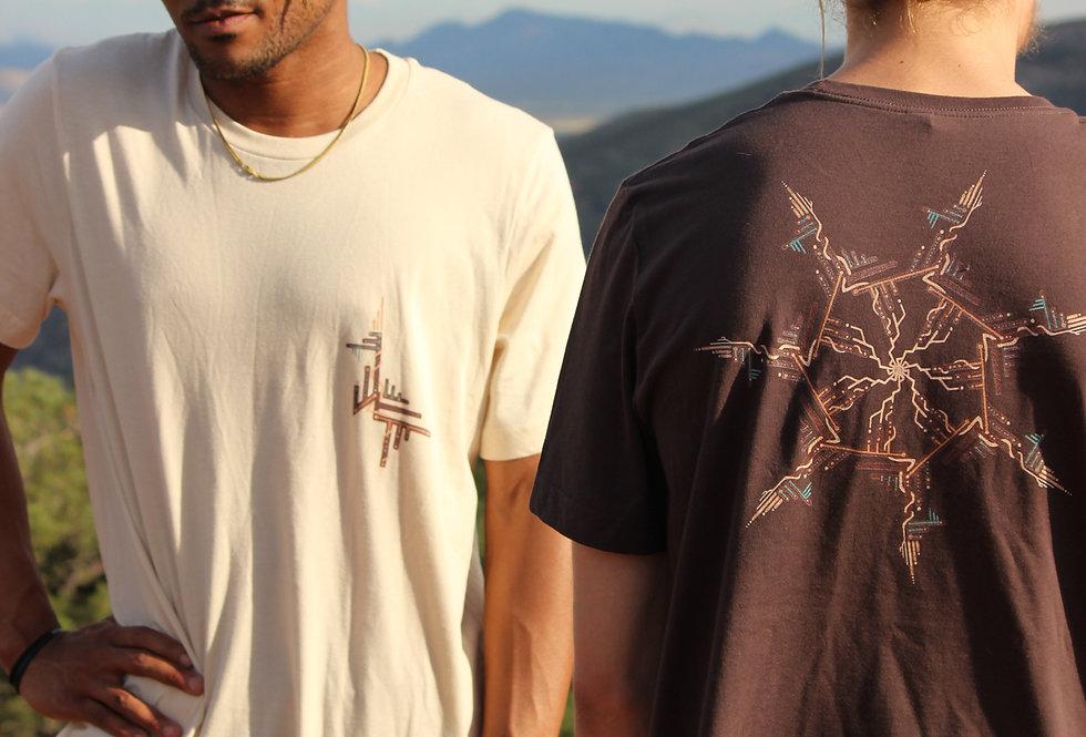 Men's Cotton Tshirt -Storm Spiral