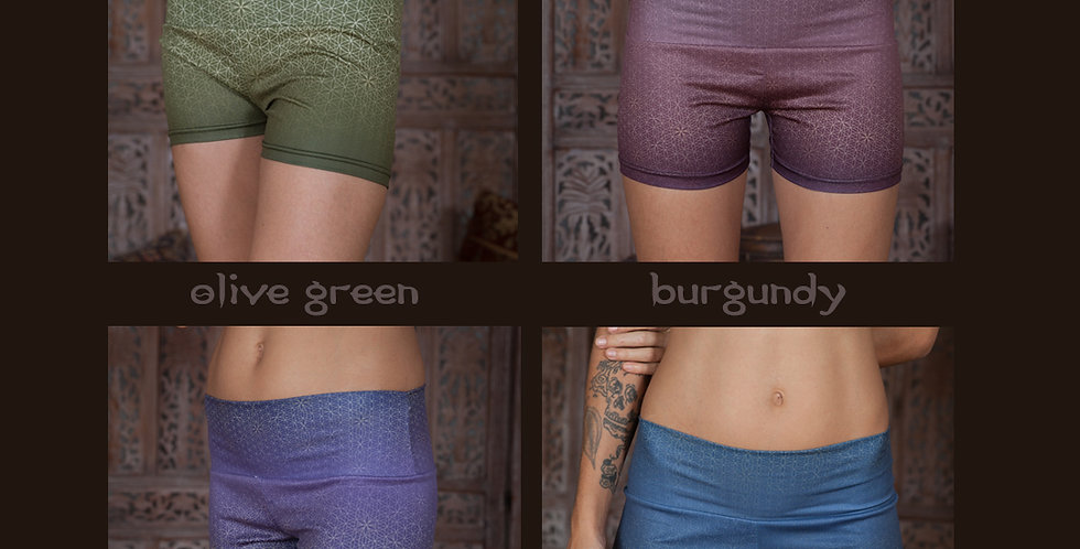 Flower of life Ombre Booty Shorts