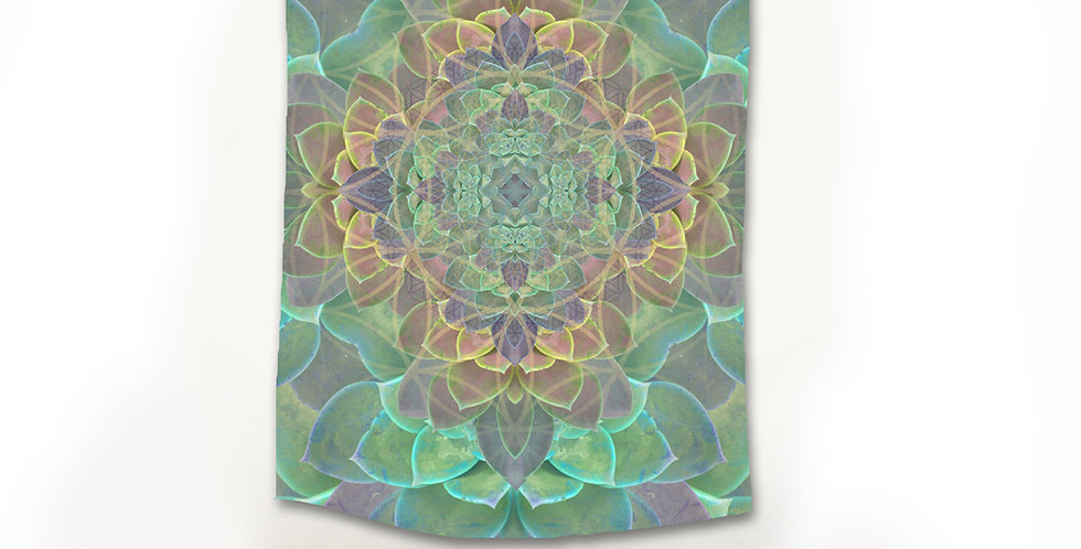Succulent Fabric Wall hanging Tapestry
