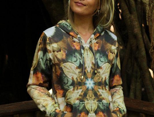 Womens Pullover hoodie - Kookaburra Dreaming