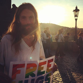 Is this really Prague_ Free hugs on Char