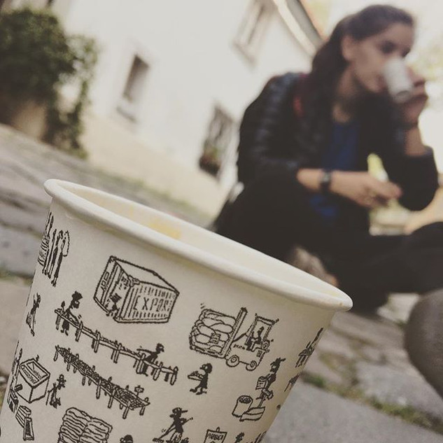 Cappuccino in _New World_ street