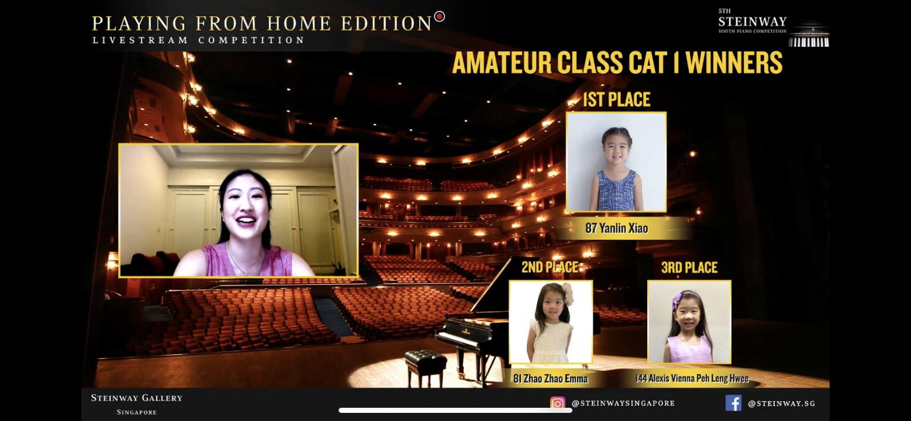 Xiao Yan Lin Won First Prize