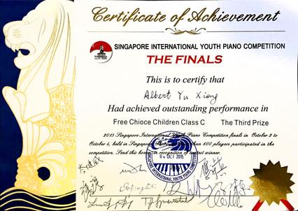 2015 Singapore International Youth Piano Competition, Albert Yu Xiong