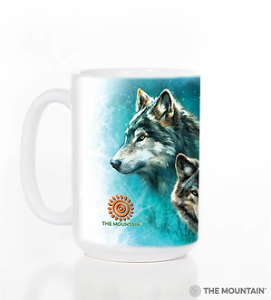 Moon Wolves Collage Ceramic Coffee Cup/Mug by The Mountain