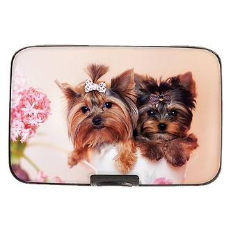 Yorkies in Teacup Armored Wallet by Monarque
