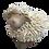 Fuzzy Sheep Figurine
