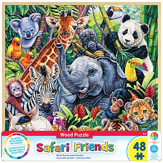 48 Piece Safari Friends Jigsaw Puzzle by MasterPieces