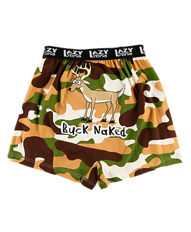 """""""Buck Naked""""Lazy One Men's Boxers"""