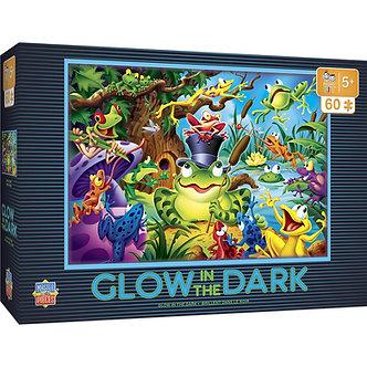 "60 Piece Glow in the Dark Frog Jigsaw Puzzle by MasterPieces ""Abracadabra"""