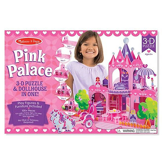 100 Piece Melissa & Doug Pink Palace 3-D Puzzle & Dollhouse in One