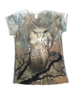 Owl V-Neck Shirt by Sunshirt