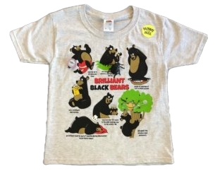 Black Bear Snap-On T-Shirt by WildThings