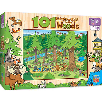 101 Piece 101 Things to Spot in the Woods Jigsaw Puzzle by MasterPieces