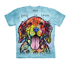 """Dog Is Love"" Adult T-Shirt by The Mountain"